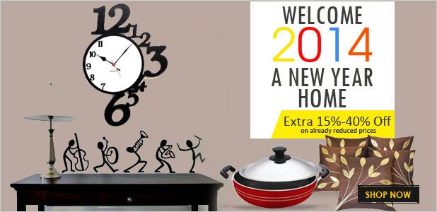 New year special home sale - Get upto 15-40% off on already reduced prices at @ShopClues India