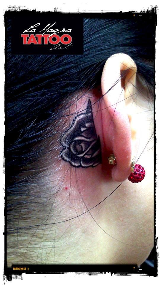 #rose #ear #tattoo