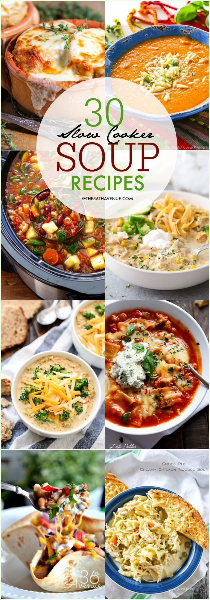 Slow Cooker Soup Recipes - Enjoy these easy and delicious soup recipes at The36thAvenue. Pin it now and make them later.