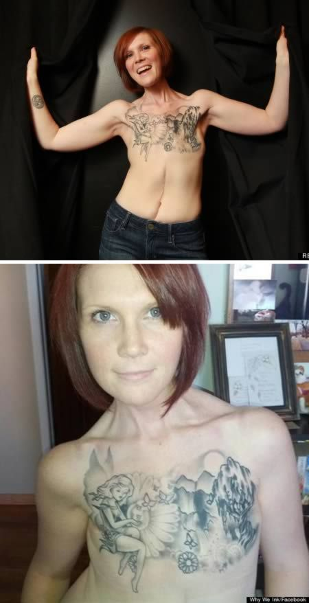 15 Most Amazing Mastectomy Tattoos - Oddee.com  If I ever get breast cancer and need a double mastectomy i am totes getting a chest piece.
