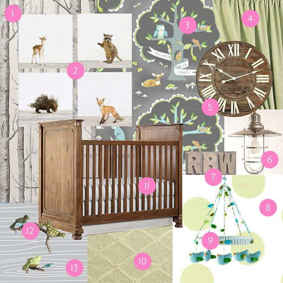 80 best images about nursery design woodland on pinterest for Woods themed nursery