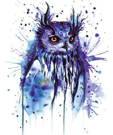 Large Temporary Owl tattoo - Easy to Apply Stickers for Men and Women - Waterproof - Long Lasting- Color flashtattoo