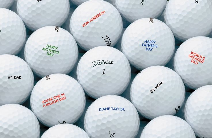 Personalized Golf Balls - Birthday Gift Ideas for Men Who Have Everything