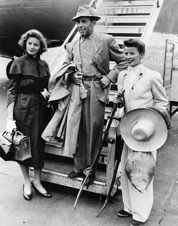 Lauren Bacall, Humphrey Bogart and Katharine Hepburn