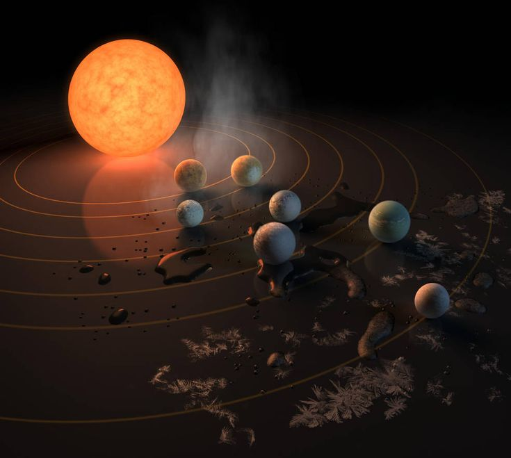 Artist's concept of exoplanets