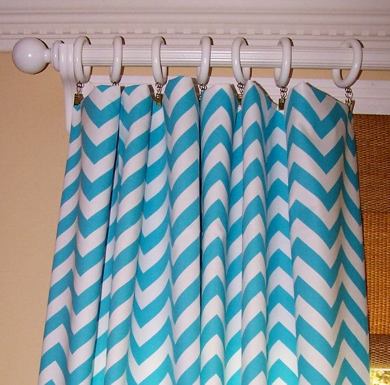 ZIG ZAG Custom CURTAINS Premier Fabric Two by Cathyscustompillows, $109.00