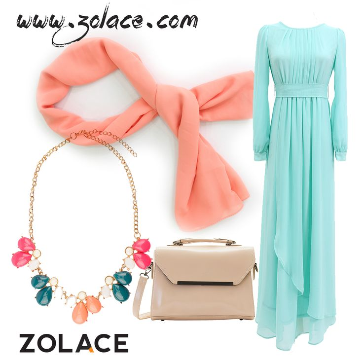 All From Www Zolace Ever Wander Dress Muslimah In Mint Green
