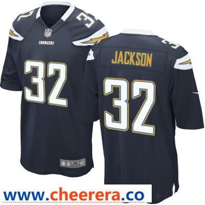 Men s Los Angeles Chargers  32 Justin Jackson Navy Blue Team Color Stitched  NFL Nike Game Jersey d071656ee