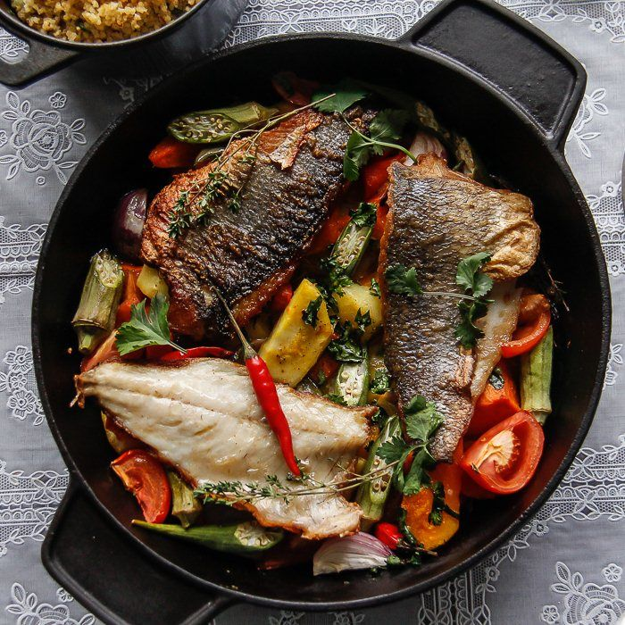 Seafood Ideas For Dinner Party Part - 31: Discover How To Get More Omega 3 In Your Diet With This Vibrant One Pot Sea  Bass Dish Combining The Tropical Taste Of Coconut With Healthy Vegetables.