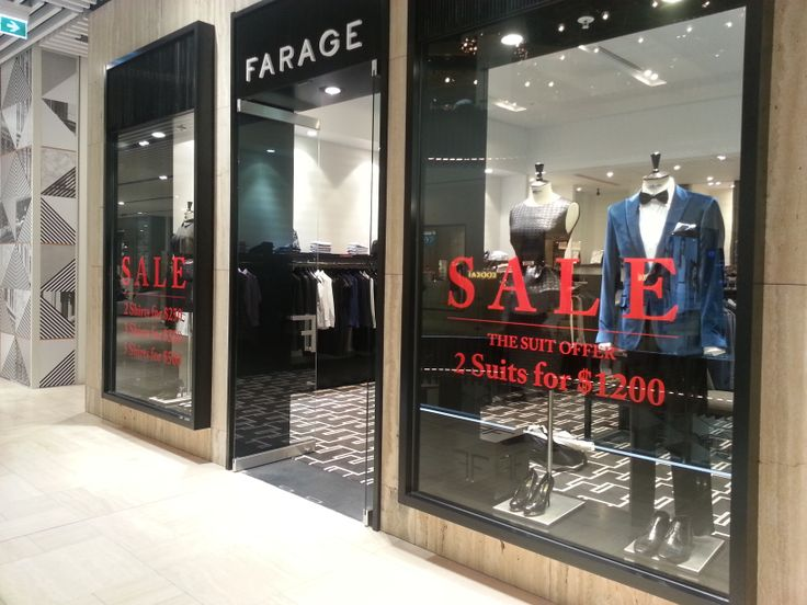 Glass decal installed by Sign A Rama Box Hill for Farage in the Melbourne Emporium store.