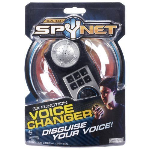 Disguise Your Voice - Spy Net: Secret Identity Voice Changer by Jakks. $29.99. Spy Net: Secret Identity Voice ChangerFrom the Manufacturer Disguise your voice and trick fellow agents. Includes 6 modes and effects for keeping your identity a secret. Ages 8+. Product Description Do you have what it takes to be a super spy? Real working spy gear! Become the secret agent you've always dreamed of being! Spy Net products take high end electronics and interactive experiences and ...