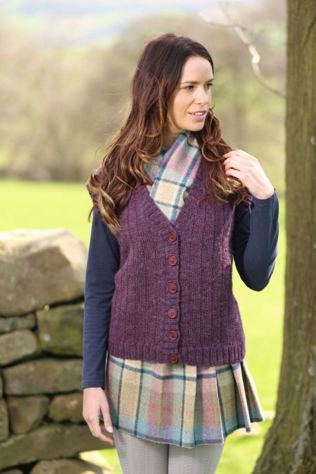 Knitting Patterns Ladies Waistcoats : Wendy Ramsdale DK waistcoat - free pattern at http://www.letsknit.co.uk/free-...