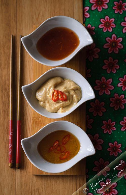 Kochen mit Herzchen - ♥ Mein Koch-Tagebuch mit viel Herz ♥: Dips für vietnamesische Frühlingsrollen