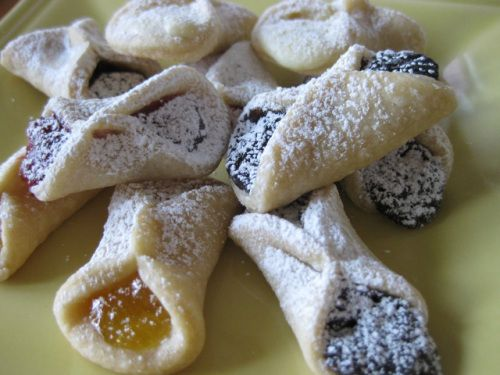 KOLACKY-Granny always made these...one of my favorite  Makes about 11 dozen cookies  ¾ pound unsalted butter, softened (3 sticks)  ½ cup sour cream  3 cups unbleached all-purpose flour  ...