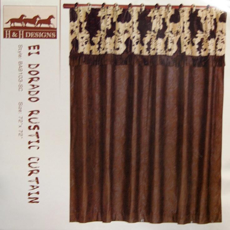 Good El Dorado Cowprint Western Shower Curtain
