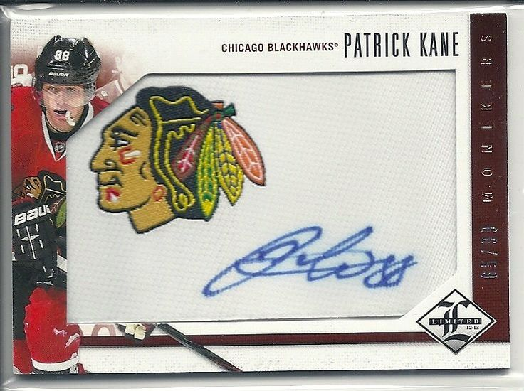 12-13 UD  PATRICK KANE MONIKERS AUTO signed card Chicago Blackhawks /99 #ChicagoBlackhawks