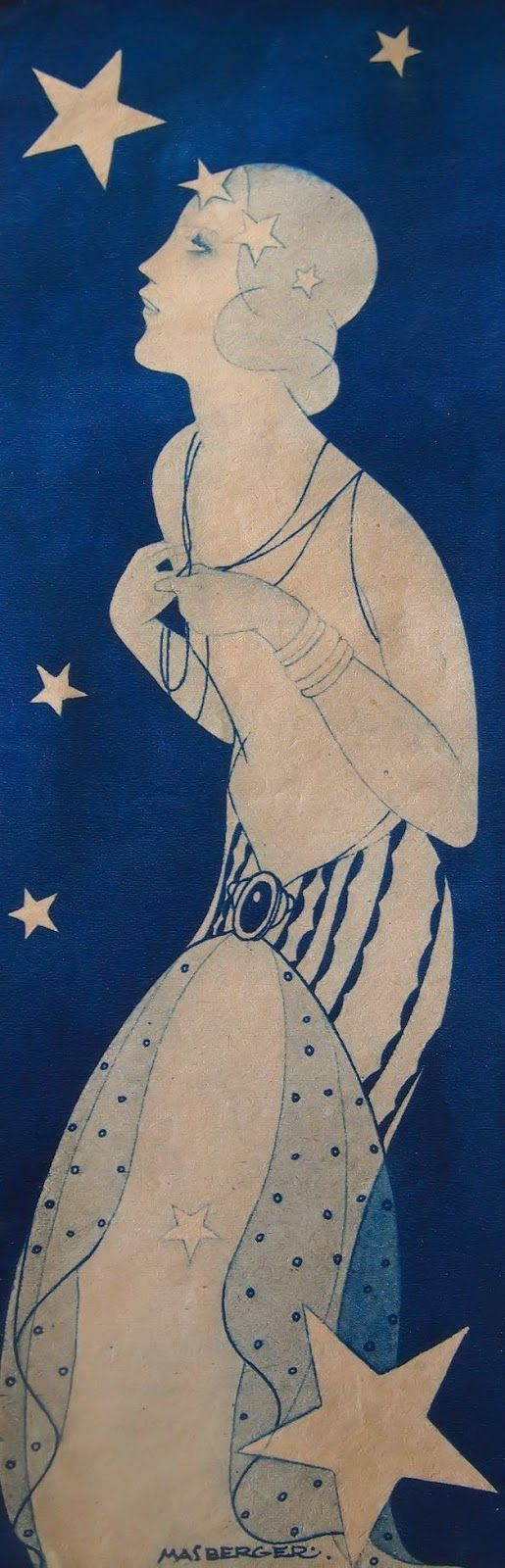 Female-centric artwork  Vintage et cancrelats: Carlos Masberger : Lune, 1935  #tataharper #seasonoflove