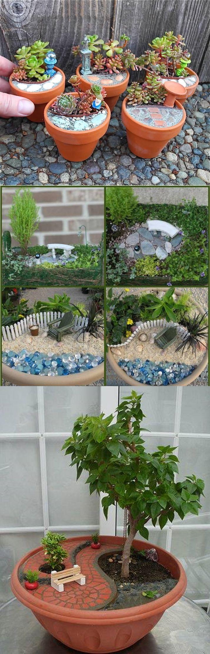 Mini-jardines son maravillosos y también son muy lindo. Diseñar un mini jardín, La falta de espacio no es excusa para ir por la vida sin un jardín. Cómo ha