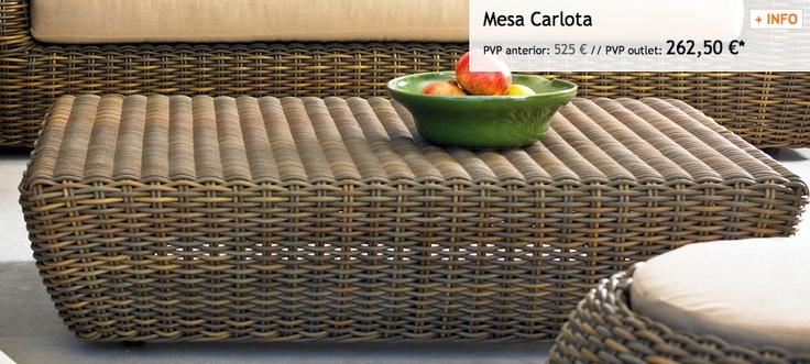Mesa carlota outlet greendesign 2013 for Mobiliario jardin outlet