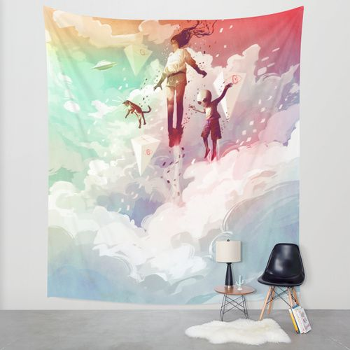 FLY Wall Tapestry by Javier G. Pacheco | Society6