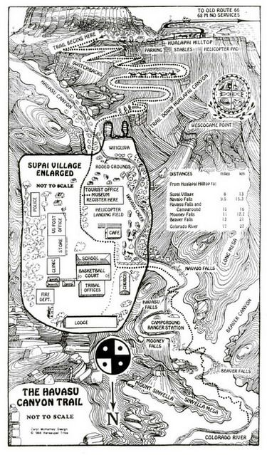 map of havasu falls grand canyon