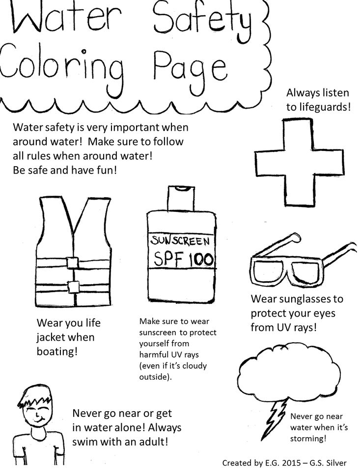 Pool safety coloring pages ~ Erin - Member Profile - TakingITGlobal | Water Safety ...
