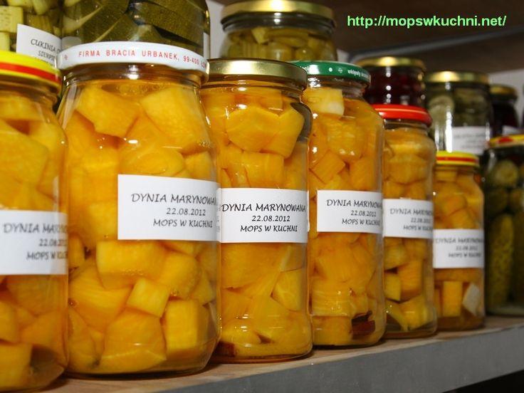 Dynia marynowana na słodko z cynamonem