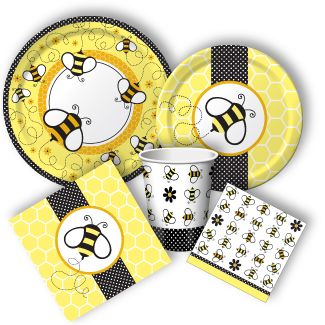 These bumble bee birthday party Supplies are just too cute! And they are rather inexpensive as well!