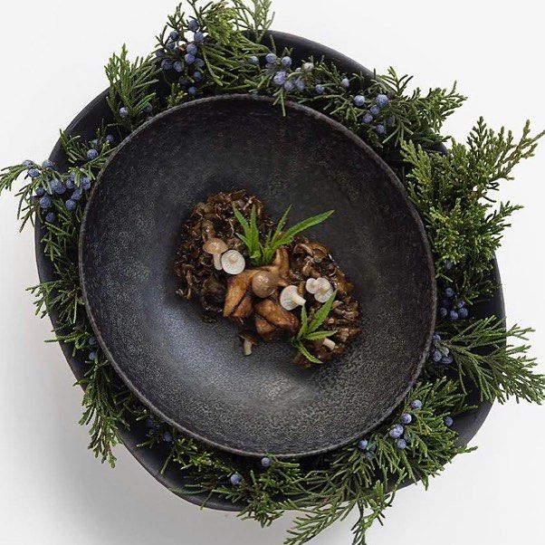 Maitake, ginger and mint. Cold-weather comfort by Chef @shergatt! #theartofplating #gastroart #food #foodie #foodart #foodpic #edibleart #foodphoto #foodphotography #foodphotographer #instafood #gastrogram #gourmet #gastronomy #nyc #nyceats #nycdining #nycfoodphotographer #signebirckphotography