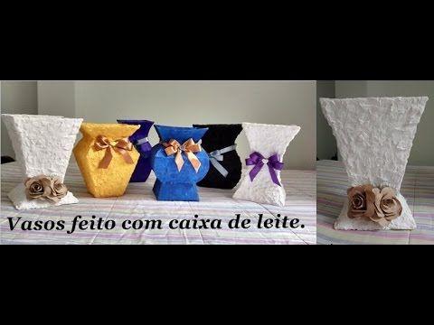Vasos de Caixa de Leite - YouTube