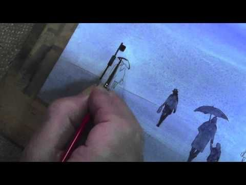 Figures in the Mist Watercolour Trailer - YouTube. Watercolor TipsWatercolour TutorialsWatercolor TechniquesArt ...