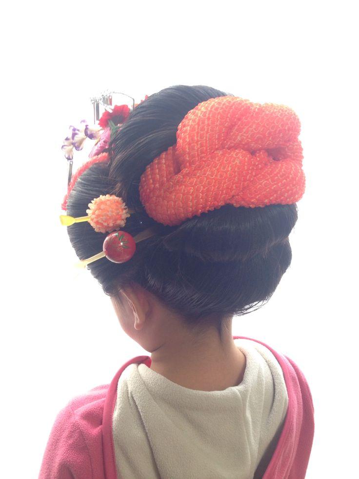 7歳新日本髪 七五三 ヘアスタイル Pinterest 七五三、着物、ヘアスタイル
