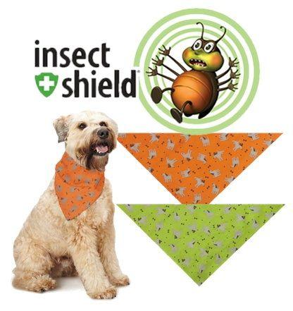 Insect Shield Dogs & Bones Bandanas【虫を撃退するテクノロジー!】インセクトシールド・犬&骨柄バンダナ防虫効果が織り込まれた最先端テク…