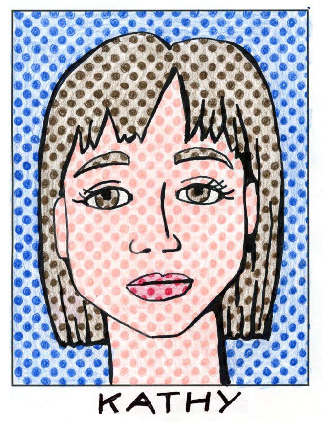 Lichtenstein Style Portrait. Use my pdf dot template to create your own pop art. #selfportrait #lichtenstein