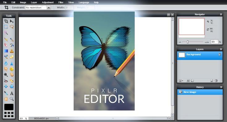 Pixlr editor (Photoshop online) Link: https://pixlr.com/editor/