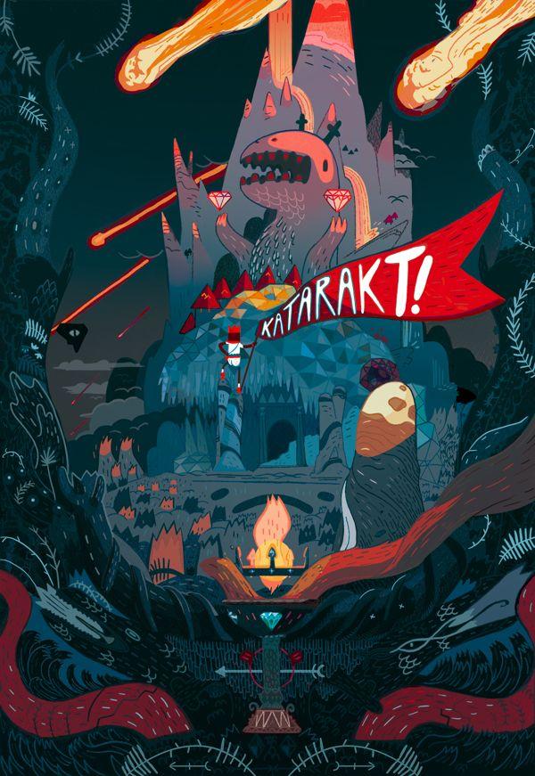 Katarakt! Exhibition by L'Encre Blanche, via Behance