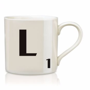 Scrabble Mug L: Scrabble mugs – collect the set for when you have 25 friends round for tea.