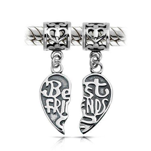 Bling Stars BFF Best Friends Forever Puzzle Dangle Charm Bead fits Pandora Bracelets HXuDCH