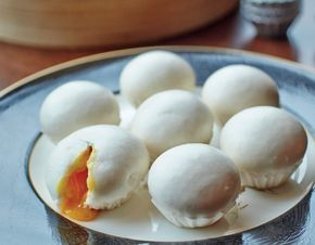 We love salted egg yolk buns so much, we begged Hai Tien Lo's dim sum chef to show us how to make them.