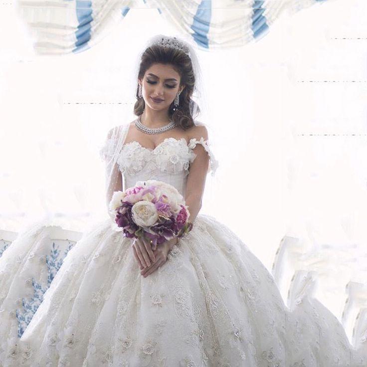 Luxury Wedding Dresses Sweetheart Beaded Fl Lace