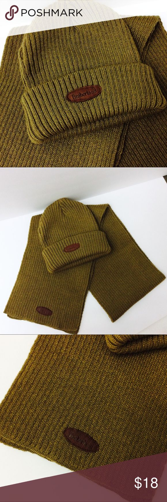Timberland Hat & Scarf Set Excellent condition Timberland Accessories Hats