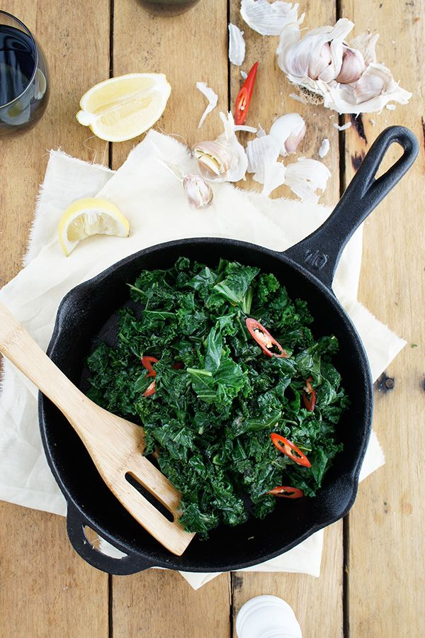 """#RecipeoftheDay: Stir-Fried Kale by Chris15 - """"This was simple to do. I cooked it in a normal fry pan. Would make a great side dish to meat but I ate it on its own."""" - Shannon"""