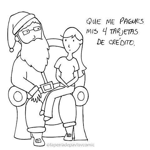 Mia deseos para #Navidad @laperradepavlocomic  #pelaeldiente #inspiración #optimismo #viñetas #ilustración #humor #funny #positivo #sonrisa #alegría #diseño #deseos #Navidad