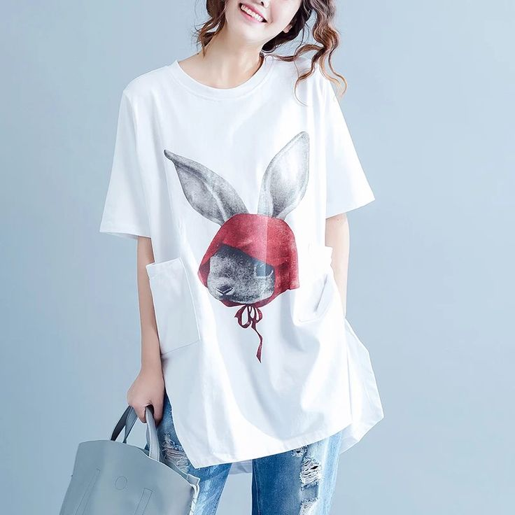 Rabbit printing women clothes 6.20 new arrivals free shipping