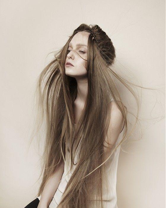 NHF - long brown straight hair styles