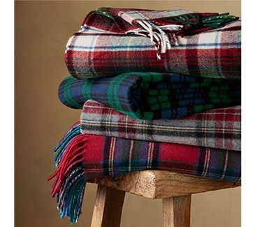Tartan throws by Pendleton - made in the USA