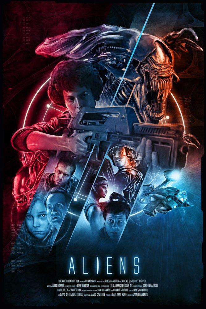 Art Rich Richard Davies Aliens Movie Print Poster Mondo Alien