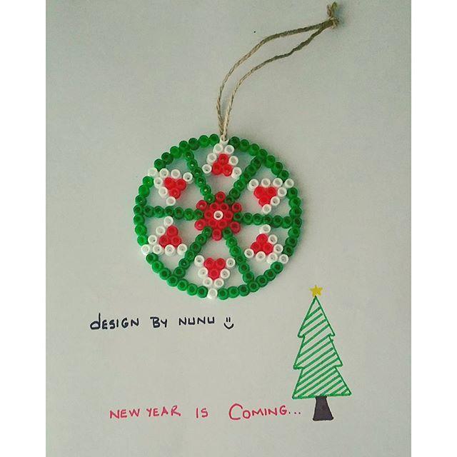 Christmas ornament hama beads by nursenturk - designbynunu