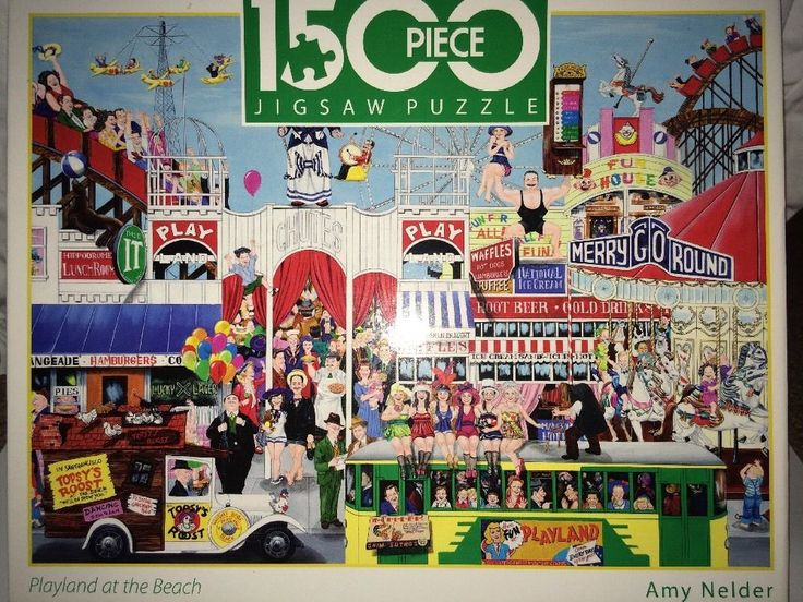 Amy Nelder Playland at the Beach 1500 Pc Jigsaw Puzzle