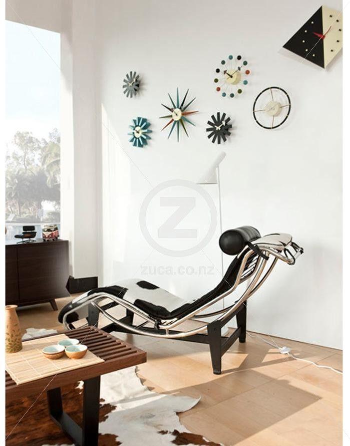 Replica Le Corbusier Chaise Lounge LC4 Hide ZUCA